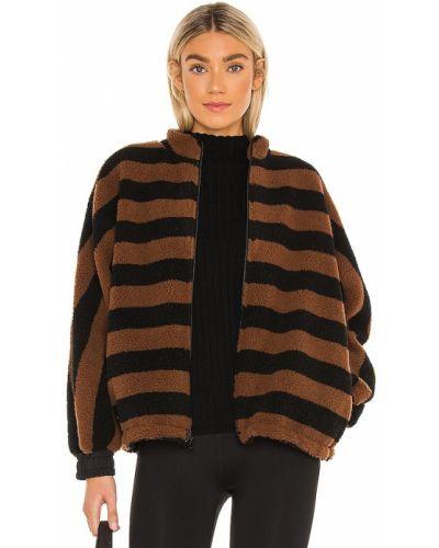 Черная спортивная куртка из искусственного меха на молнии Koral