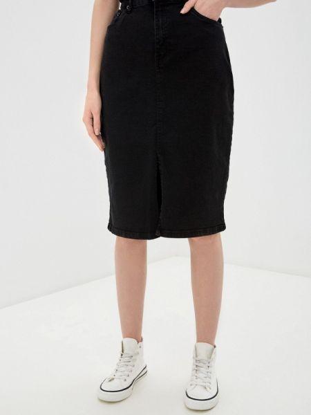 Джинсовая юбка весенняя черная Incity