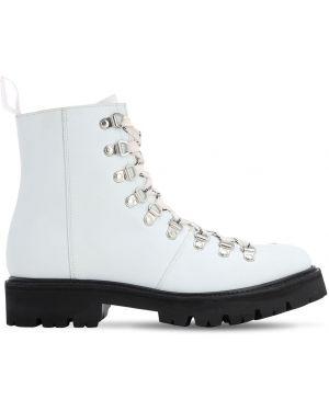 Ботильоны на шнуровке - белые Grenson