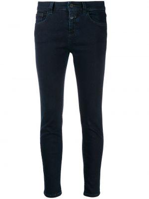 Укороченные зауженные джинсы - синие Closed
