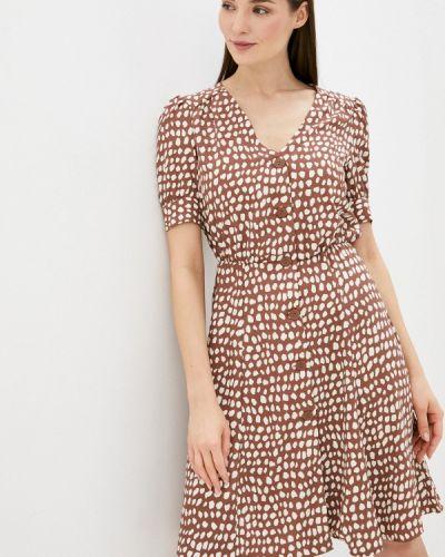 Коричневое прямое платье А-силуэта Zarina