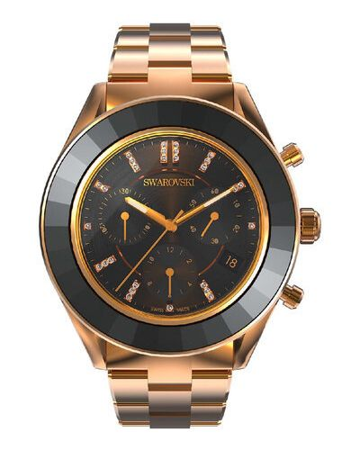 Zegarek sportowy - czarny Swarovski