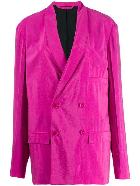 Розовый длинная куртка двубортный с карманами Lemaire