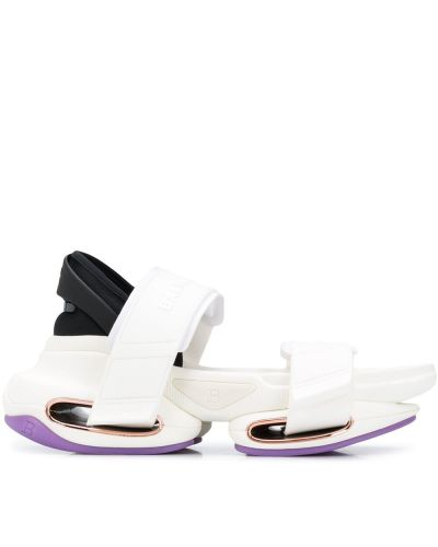 Открытые белые сандалии с открытым носком Balmain