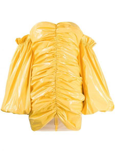 Платье со складками желтый Rotate