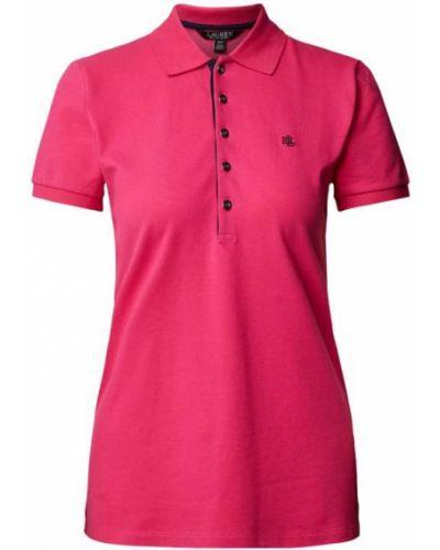 T-shirt bawełniana - różowa Lauren Ralph Lauren
