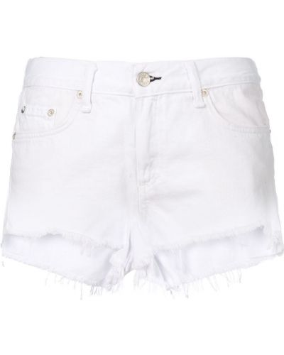 Джинсовые шорты с бахромой - белые Rag & Bone/jean