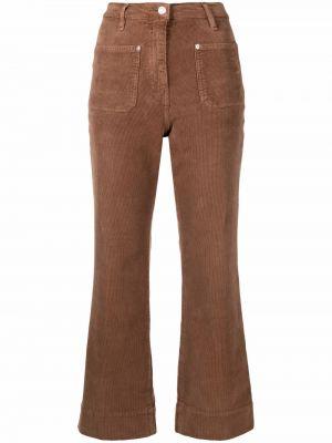 Укороченные брюки - коричневые Haikure
