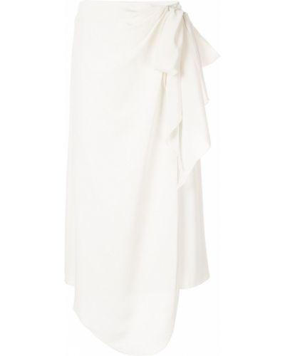 Шелковая юбка миди - белая Anna October