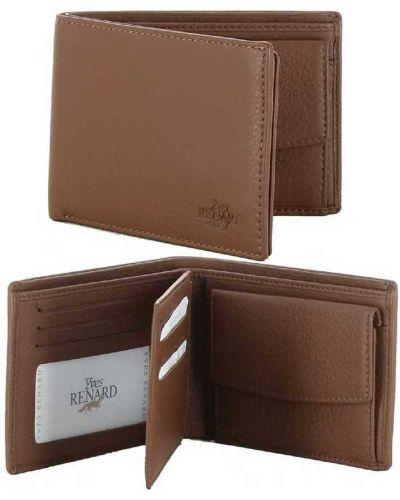 Brązowy portfel skórzany Yves Renard
