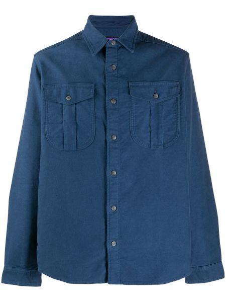 Хлопковая синяя с рукавами рубашка Patagonia