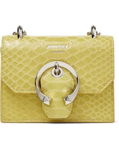 Żółta kopertówka srebrna Jimmy Choo