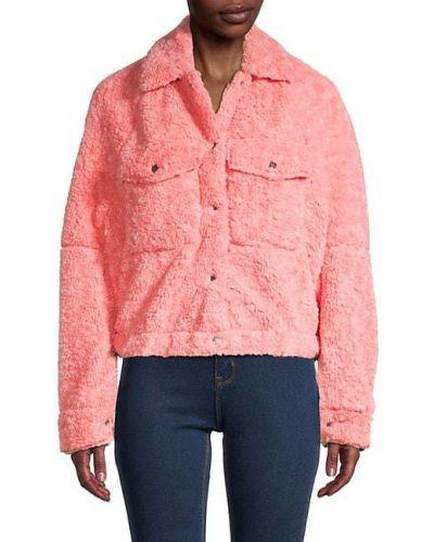 Плюшевая длинная куртка с карманами с длинными рукавами Free People