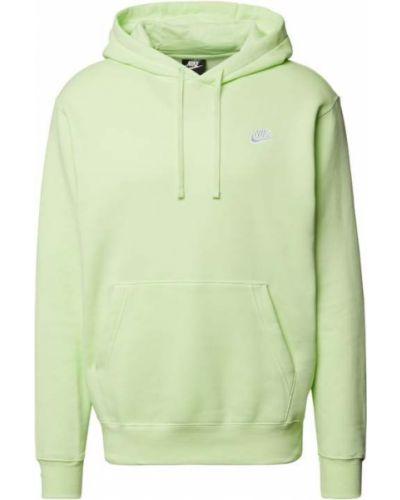Zielona bluza kangurka z kapturem bawełniana Nike