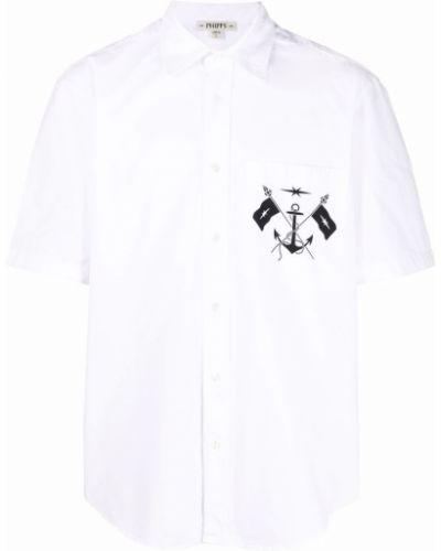 Biała biała koszula z printem Phipps