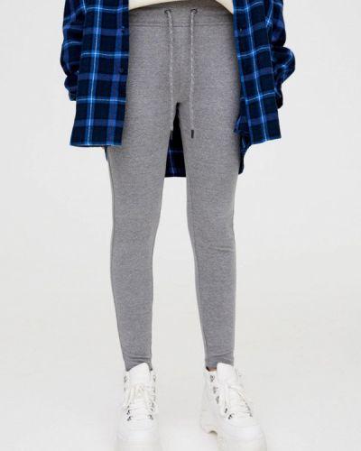 Спортивные брюки серые Pull&bear