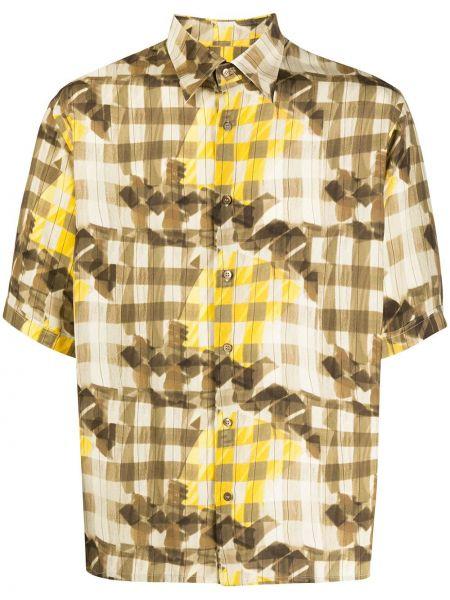 Koszula klasyczna z kołnierzem z nadrukiem Fendi