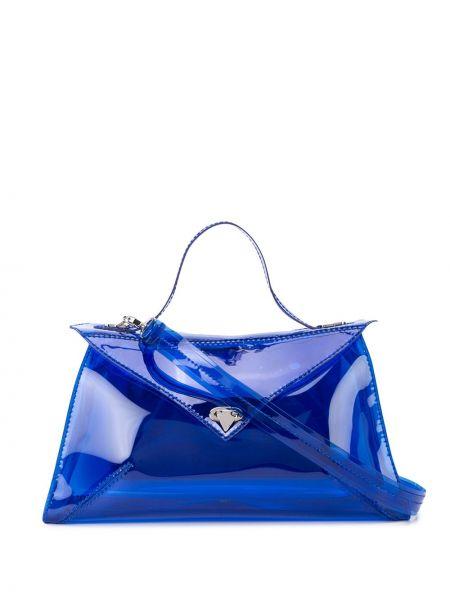 Синяя сумка-тоут круглая Tyler Ellis