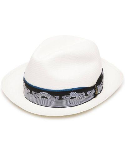 Соломенные шляпа - белые Borsalino
