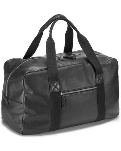 Дорожная сумка спортивная черная Ecco