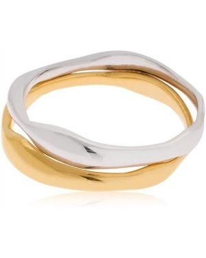 Złoty pierścionek pozłacany Bar Jewellery