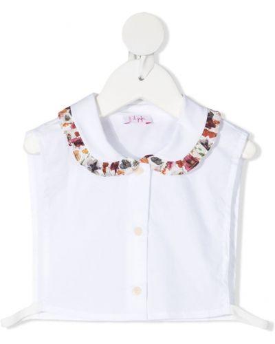 Белая блузка без рукавов со вставками Il Gufo