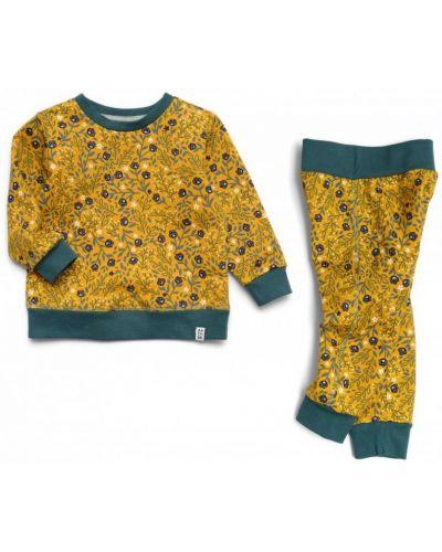 Костюмный желтый спортивный костюм в цветочный принт Ardomi