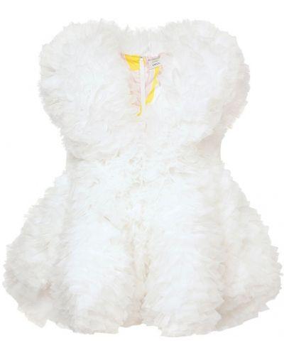 Biała sukienka mini bez rękawów Emilio Pucci