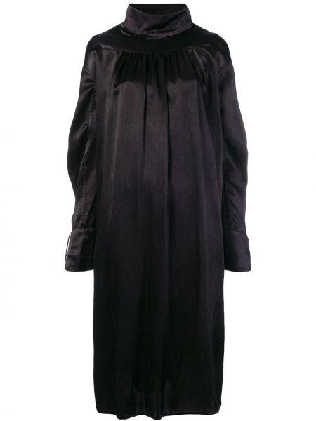 Шелковое черное платье миди Atelier Bâba