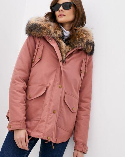 Теплая розовая зимняя куртка Grafinia