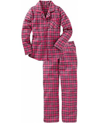 Пижама с брюками фланелевая в клетку Bonprix