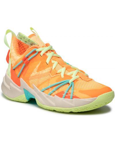 Półbuty casual - pomarańczowe Nike