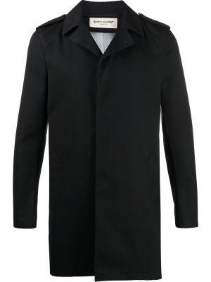 Płaszcz przeciwdeszczowy z kieszeniami czarny Saint Laurent