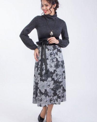 Серое вязаное платье Wisell