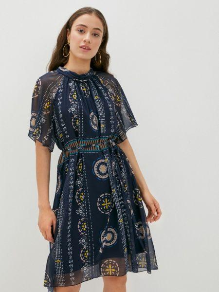 Синее прямое платье Vera Moni