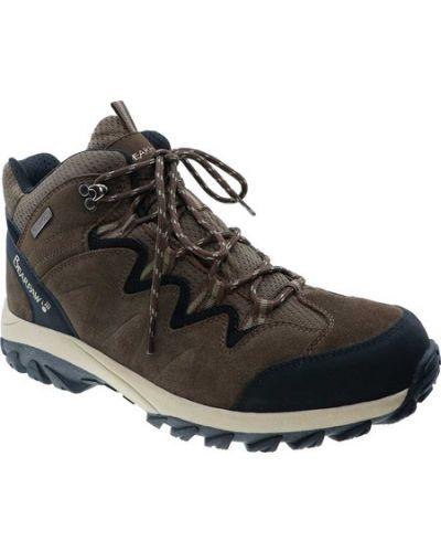 Коричневые замшевые ботинки на молнии Bearpaw