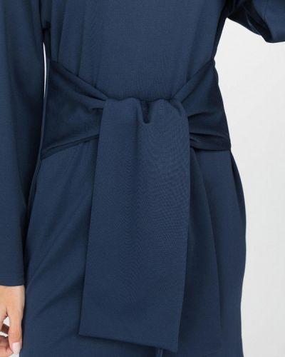 Прямое синее платье Gloss