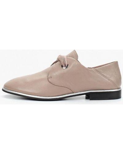 Кожаные ботинки бежевые кожаные Berkonty