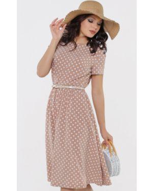 Летнее платье в горошек повседневное Dstrend