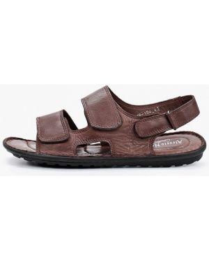Коричневые кожаные сандалии Alessio Nesca