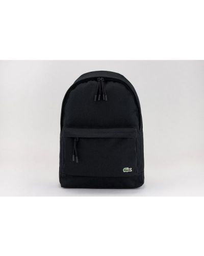 Czarny plecak na laptopa Lacoste