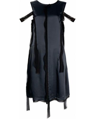 Платье с открытой спиной - черное Maison Margiela