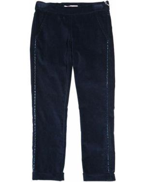 Бархатные брюки со стразами на молнии Miss Blumarine
