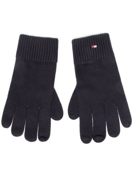 Czarne rękawiczki bawełniane Tommy Hilfiger