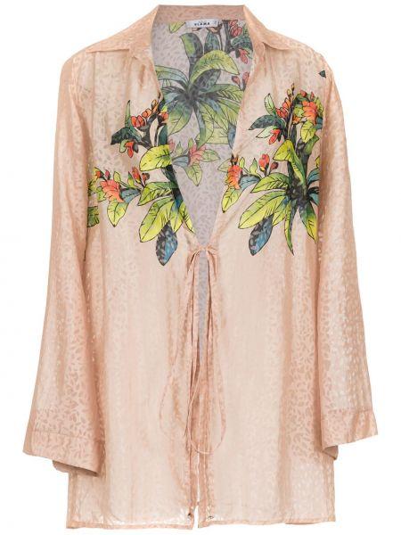 Платье с цветочным принтом купальное Amir Slama