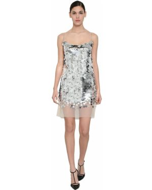 Платье мини с пайетками с декольте Ermanno Scervino