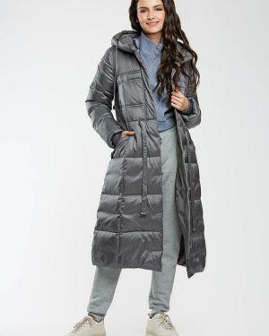 Зимнее пальто с капюшоном длинное D`imma Fashion Studio