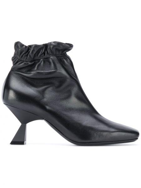 Czarny buty na pięcie z prawdziwej skóry na pięcie kwadratowy Givenchy