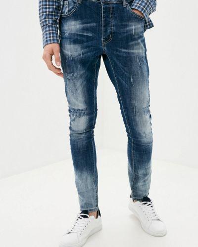 Синие зауженные джинсы-скинни Terance Kole
