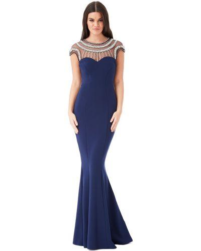Облегающее синее вечернее платье Goddiva
